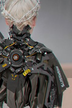 minovo wang on ArtStation Cyberpunk Fashion, Cyberpunk Art, Cyberpunk 2020, Superhero Design, Robot Design, Zbrush, Armor Concept, Concept Art, Character Concept
