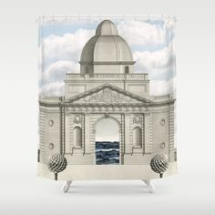 Portals to Bolano's world.  Shower Curtain