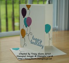 Birthday card using stamps received in the May 2015 Paper Pumpkin kit 'Birthday Bundle'.  Subscribe to Paper Pumpkin in Canada at http://tracyelsom.stampinup.net