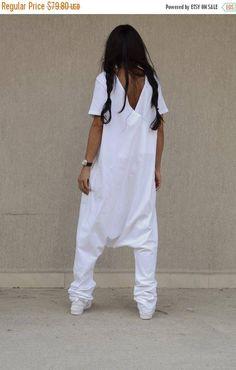 SALE 25% OFF white jumpsuit woman loose jumpsuit plus size