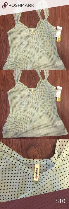 Sleeveless polka dot blouse Comfy but sexy polka dot shirt with no sleeves. Size small brand new with tags perfect condition Tempted  Tops Blouses