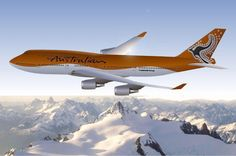 Australian Airlines, Airline Travel, Boeing 747, Aircraft, Colours, Fantasy, Air Travel, Aviation, Planes
