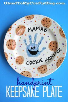Mama's Cookie Monster Keepsake Plate