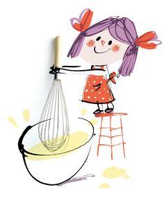 Cute Kitchen Children Art Fred Benaglia