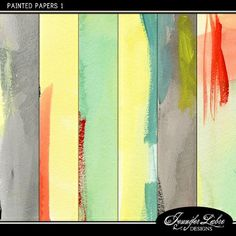 Painted Papers 1 paper pack freebie from Jennifer Labre Designs