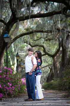 Savannah made a stunning and unique backdrop for Ryan and Charly's engagement session.