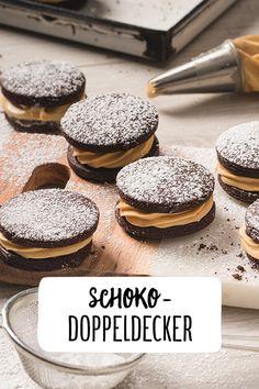 Schoko-Doppeldecker Plätzchen Perfekt für die Weihnachtszeit Gefüllte Plätzchen Ein Hommage an Oreo Kekse nur besser, aber sag's keinem Backen für Weihnachten Weihnachtsessen Weihnachtsplätzchen #REWE #Plätzchen #Weihnachtsbäckerei