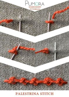 the embroidery stitch lexicon: the palestrin stitch