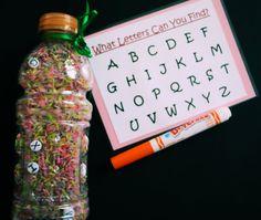 I-Spy Bottle - Alphabet. $12.00, via Etsy.