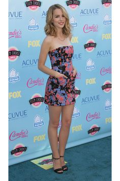 Teen Choice Awards, bridget mendler looks cute in a colorful dress