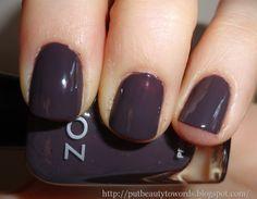 creamy smoky eggplant nails.   Zoya Polish in 'Petra'