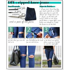 DIY Distressed Jeans | Boyfriend Jeans & Ripped Knee Jeans ...