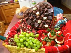 Picnic basket dessert display