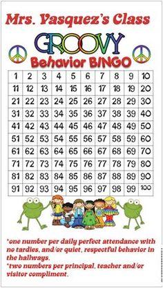 behavior BINGO and classroom management for 4th grade