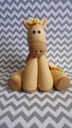 horse cake topper by SweetRetreatss on Etsy