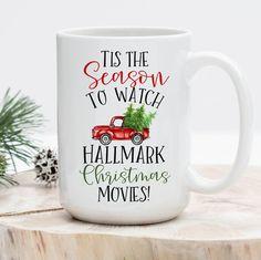 Hallmark Christmas Movie Mug, Tis the Season to Watch Hallmark Christmas Movies Mug, Hallmark Mug, H Christmas Coffee, Christmas Quotes, Christmas Countdown, Christmas Pictures, Christmas Crafts, Christmas Christmas, Christmas Ideas, Christmas Clothing, Christmas Scenes