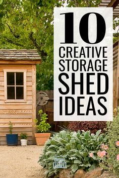 These are the best storage sheds for your money. Deciding between building your own or buying a kit is the tough part. This guide will walk you through it and then help you get your storage shed organized. Storage Shed Organization, Wood Storage Sheds, Organization Ideas, Wood Shed Plans, Diy Shed Plans, Vinyl Sheds, Plastic Sheds, Shed Blueprints, Metal Shed