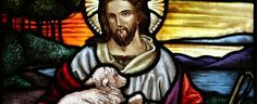 This image shows Jesus Christ with a sheep because Jesus Christ is your shepherd and if you trust in him, he will lead the way