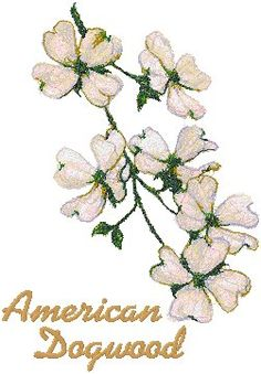 Advanced Embroidery Designs - Trees in Blossom Series: American Dogwood