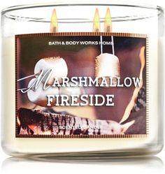 "3 mèches  BATH&BODYWORKS ""MARSHMALLOW FIRESIDE"""