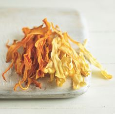 Baked Parsnip and Sweet Potato Chips
