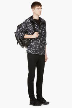 MARCELO BURLON COUNTY OF MILAN Black Python Print Jacket