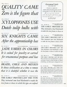 Cary Graphic Arts Collection at RIT (pictured, Garamond Italic Specimen) http://library.rit.edu/cary/image-database#?&min=-4000&page=0