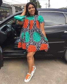 2020 Short African dresses are constantly chic and never lose their significance. Best African Dress Designs, Best African Dresses, African Fashion Ankara, Latest African Fashion Dresses, African Print Dresses, African Print Fashion, African Design, African Attire, African Wear