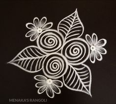 Free Hand Rangoli Design For Deepavali Simple Art Designs, Simple Rangoli Designs Images, Rangoli Designs Latest, Rangoli Designs Flower, Rangoli Border Designs, Rangoli Patterns, Rangoli Ideas, Rangoli Designs With Dots, Rangoli Designs Diwali