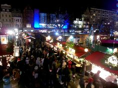 Christmas and New Year stalls in Edinburgh.