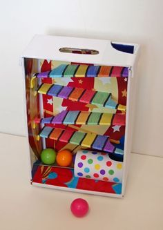 Make a rolling ball toy out of cardboard- Cute kids craft idea!