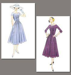 Vintage Vogue V1044 - Dress and Belt - Vintage Vogue Patterns - Books and Patterns