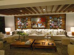 Tetos decorados – veja modelos de sancas, cores, iluminação e muito mais! Furniture, Design, Barber Shop, Ceilings, Home Decor, Nova, Interiors, Dreams, Starry Ceiling