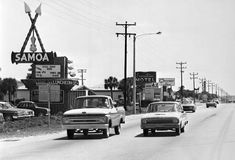 Florida Highway A1A looking south on Motel Row - Cocoa Beach, Florida, 196?. State Archives of Florida, Florida Memory, http://floridamemory.com/items/show/138862