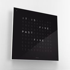 QLOCKTWO clock / design by Biegert & Funk