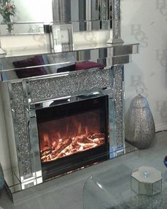 Our Diamond Crush Fireplace with Electric fire included Interest Free Credit Options Available. Luxury Living Room, Home, Luxury Furniture, Luxury Bedroom Furniture, Living Room Furniture Online, Traditional Bedroom Decor, Furniture Prices, Glamour Living Room, Fireplace