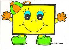 Alphabet Letter Crafts, Alphabet For Kids, Mathematics Geometry, Kindergarten Art Lessons, Shapes For Kids, Teaching Aids, Vintage Paper Dolls, Drawing For Kids, Kids Education