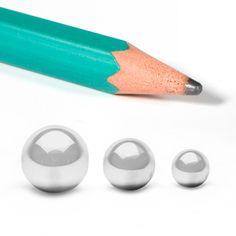 Bolas de acero al carbono - Las bolas de rodamiento de acero templado al carbono tienen una dureza con diferentes grados de precisión dimensional y de formas. Las vendemos de 9 medidas de 2,5 a 7 mm de diámetro. Material World, Convenience Store, Diy Projects, Shapes, Manualidades, Convinience Store
