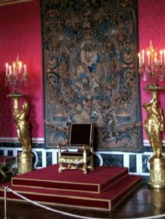 the throne at the Palace of Versailles