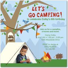 Camping Party Invitation Idea