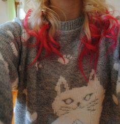 Dip-dyed hair(: