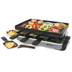 Swissmar Eiger Raclette Party Grill with Reversible Cast Iron Grill Plate/Crepe Top -- You can find more details by visiting the image link. Raclette Recipes, Raclette Cheese, Raclette Party, Grill Recipes, Barbecue, Plaque En Fonte, Cast Iron Grill, Grill Plate, Stainless Steel Grill