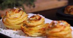 Stek poteter i en muffinsform - resultatet vil overraske deg! Side Recipes, Veggie Recipes, Great Recipes, Vegetarian Recipes, Favorite Recipes, Scandinavian Food, Danish Food, Potato Dishes, Yummy Appetizers