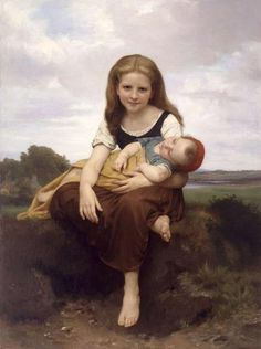 The Elder Sister by Adolphe William Bouguereau