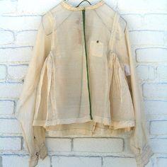 Injiri > Chunnat Choga Sheer Shirt Cardigan Ecru at New High (M)art Indian Fashion, Love Fashion, Autumn Fashion, Fashion Design, Sheer Shirt, Sheer Dress, Fashion Portfolio, Kinds Of Clothes, Kurta Designs