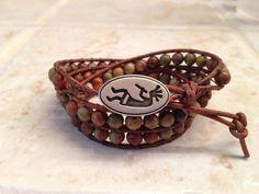 Leather Wrap Bracelet Jasper Leather Wrap Bracelet Brown