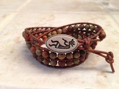 Leather Wrap Bracelet Wrap Bracelet Cuff by LillyBeadsDesigns