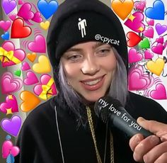 Billie Eilish, Heart Meme, Cute Love Memes, Music Like, Wholesome Memes, Aesthetic Photo, Reaction Pictures, Me As A Girlfriend, Cute Hairstyles