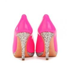 pink glitter heels #miumiu