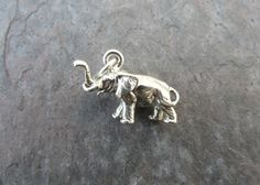 Sterling Silver Oxidized 3D Small Elephant Charm  by BijouxBeads